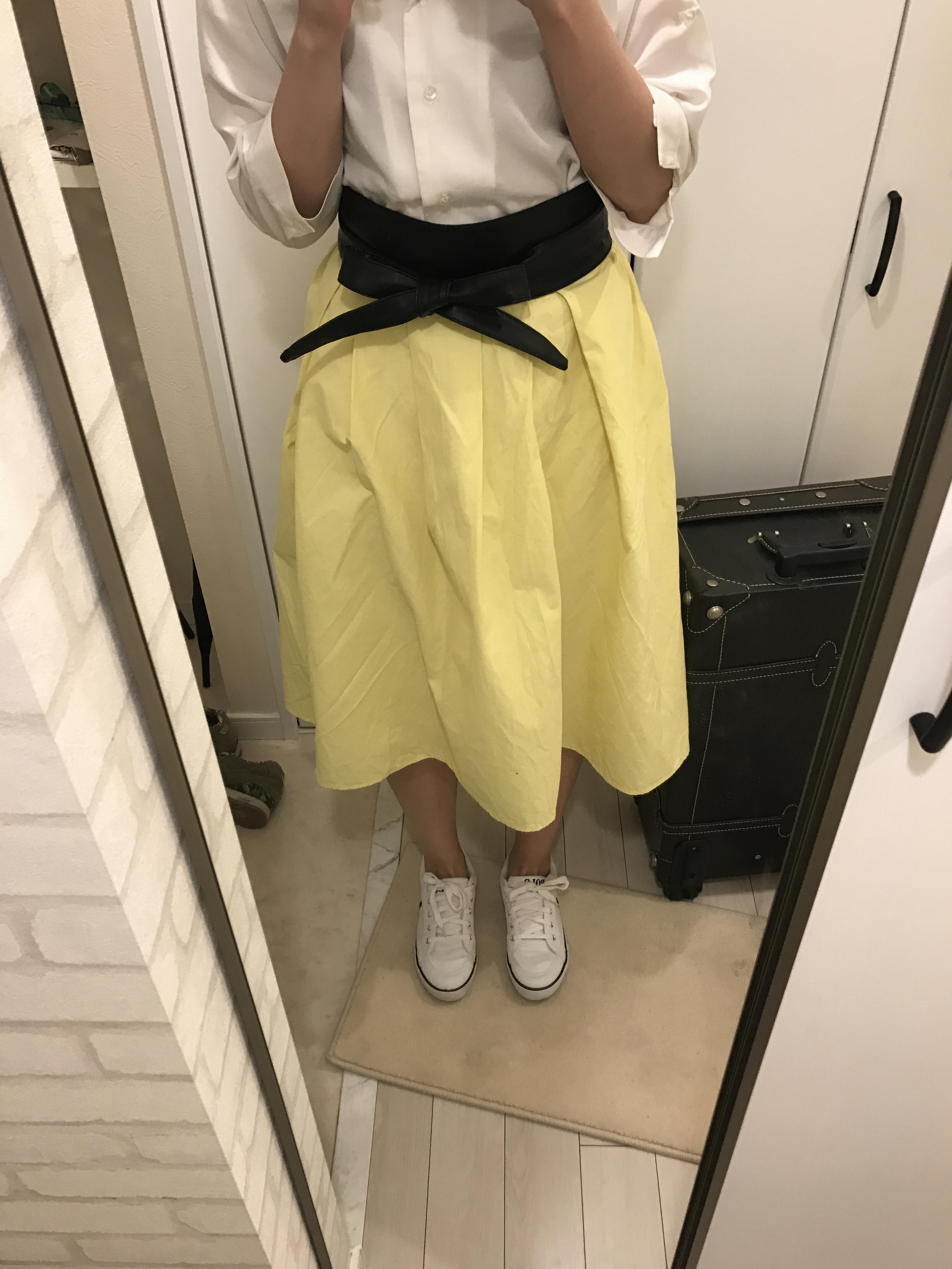 guのカラースカートでトレンドも着痩せも叶えるプチプラコーディネート♡_4
