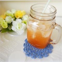 【Q♡cafe】白桃ルイボスティーとALL¥108アイテムのテーブルコーデ