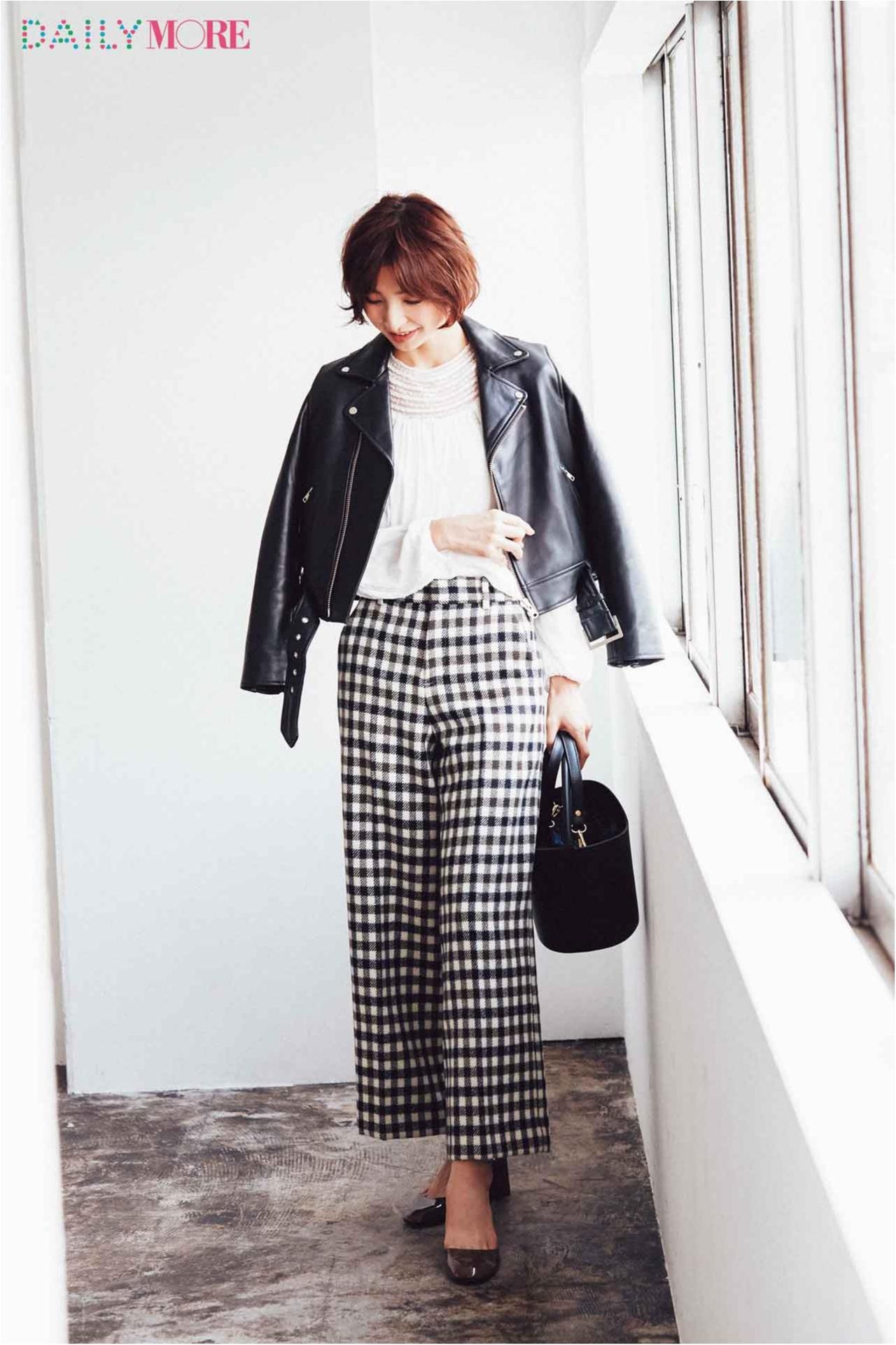 """とびきりレディ&ちゃんと今っぽい。""""チェック""""の新しい着こなしは麻里子をお手本に♪_3"""