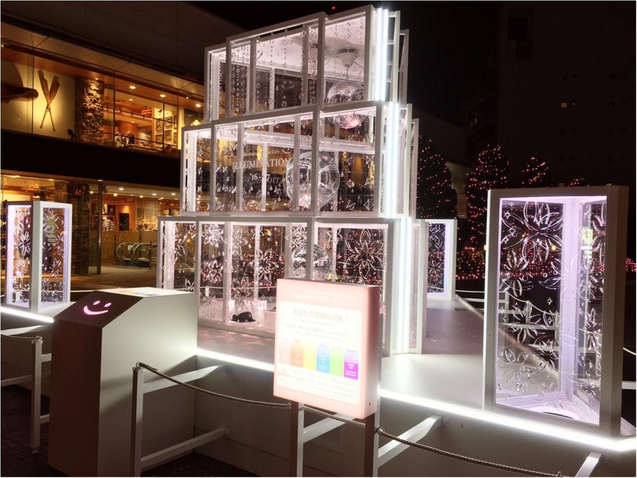 新宿の冬をベビーピンク色に染め上げる♡『新宿テラスシティ』のイルミネーションが女子力高め!体験型の『スマイルタワー』って?♡_11