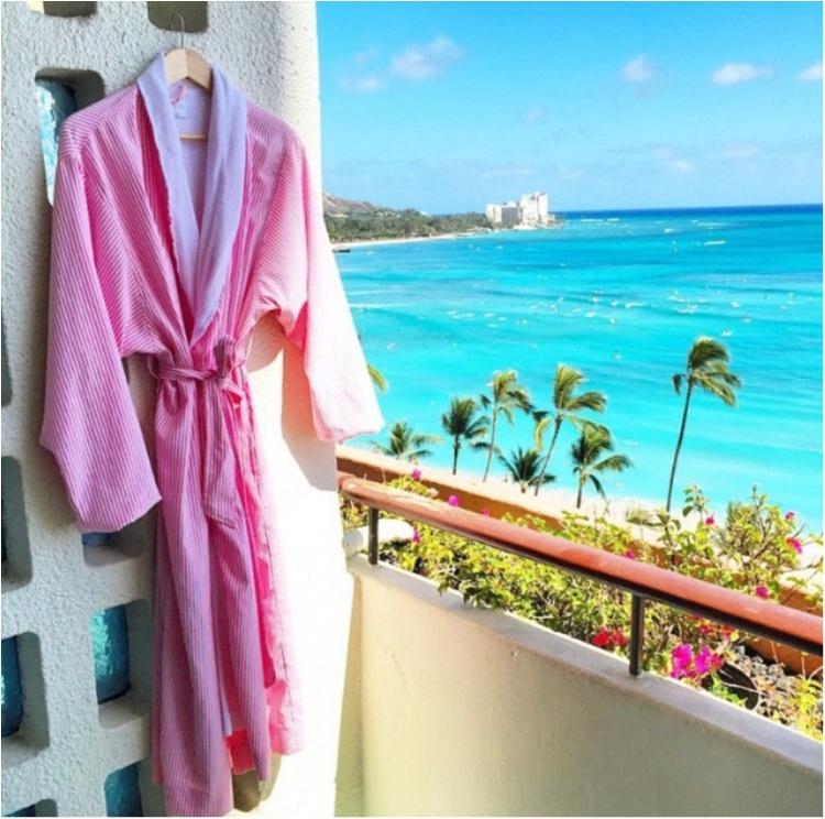【TRIP】これ着て1日過ごしたい!ハワイで1番のお目立ちホテルはバスローブまで激可愛だった♡_6