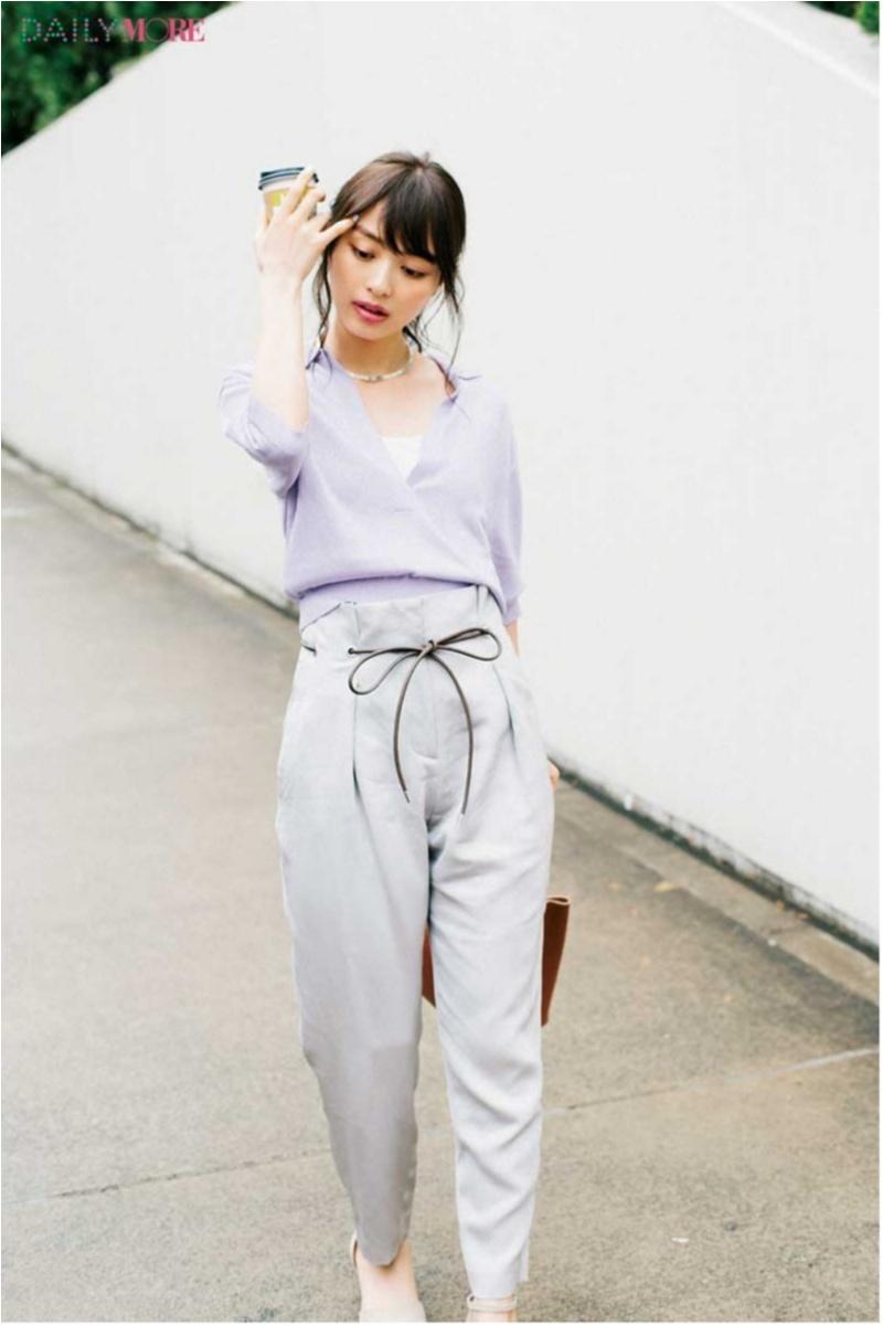 甘い服をほどよく大人にしてくれる「ポロシャツ」コーデまとめ♡_1