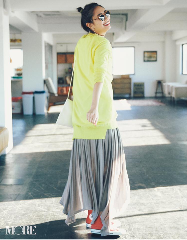 新しくなったプリーツスカートなら歩くだけで美人見え♡フラット靴派も見逃さないで!_1_5