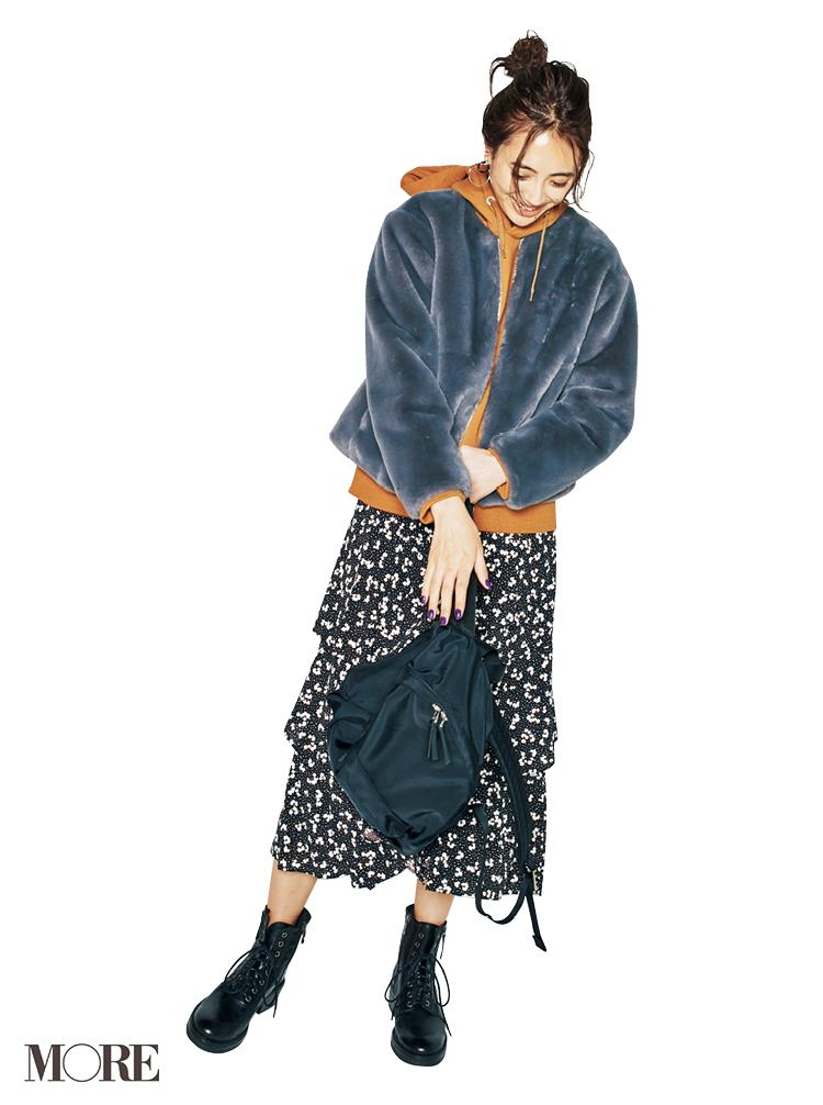 ジーユーのコートにプチプラのお仕事バッグ