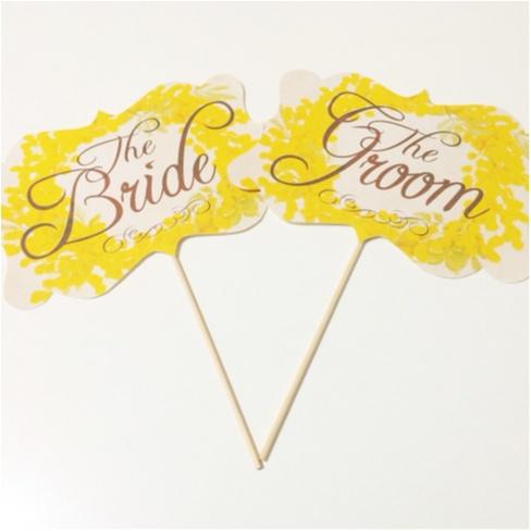 花嫁DIY♡ フォトプロップスで結婚式をかわいくしちゃおう♡_2