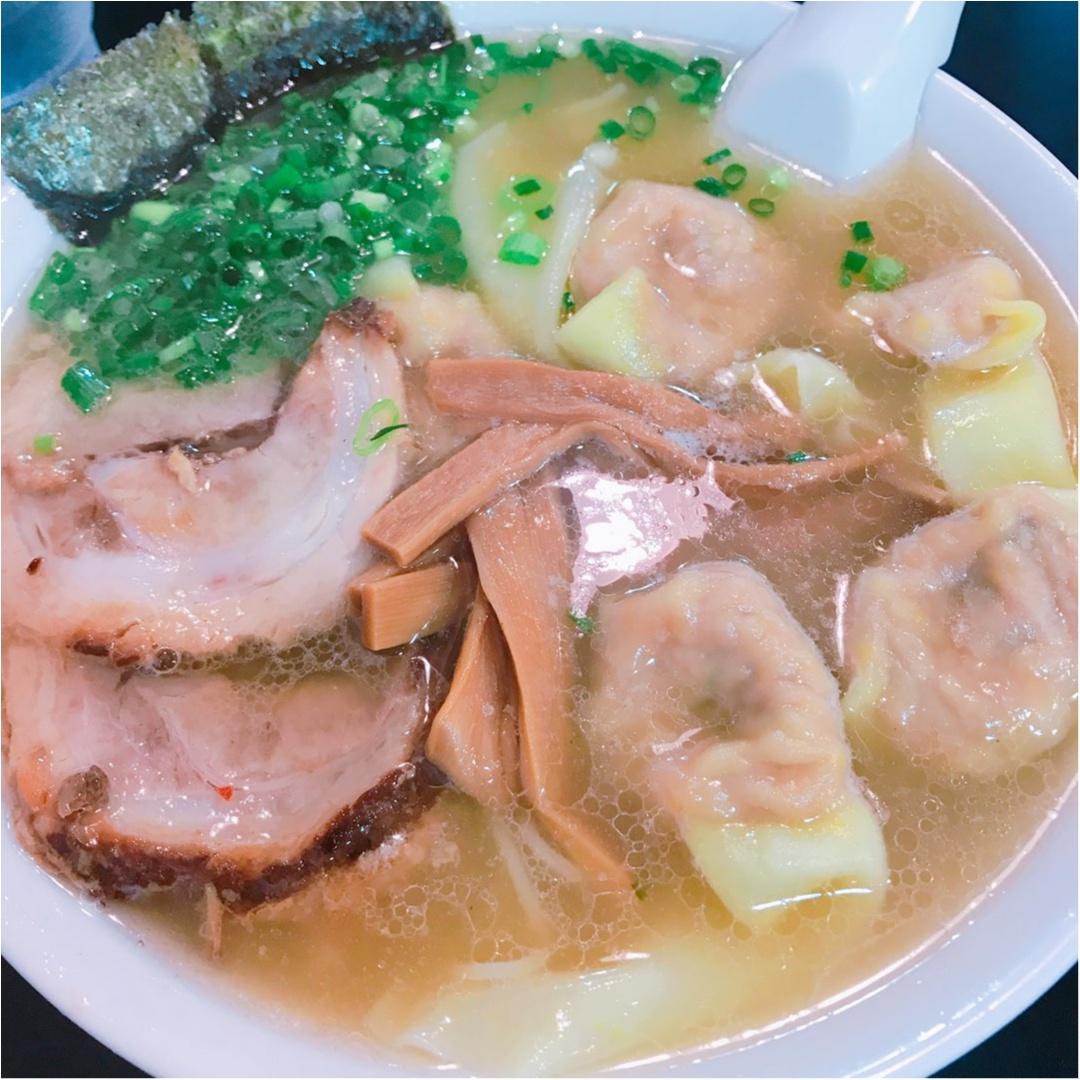 《四ツ谷》お客の大半が頼む♡ワンタン麺が大人気のラーメン屋に行ってきました!_3