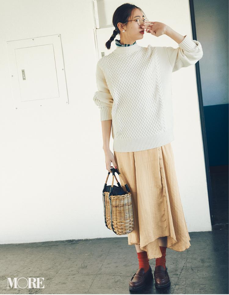 新しくなったプリーツスカートなら歩くだけで美人見え♡フラット靴派も見逃さないで!_1_3