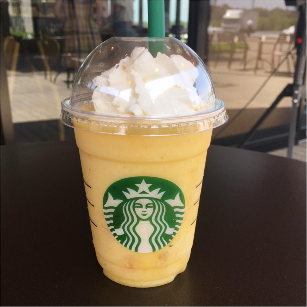 【スタバ新作】暑い夏に飲みたい!果肉たっぷり♡クラッシュオレンジフラペチーノ♡_2