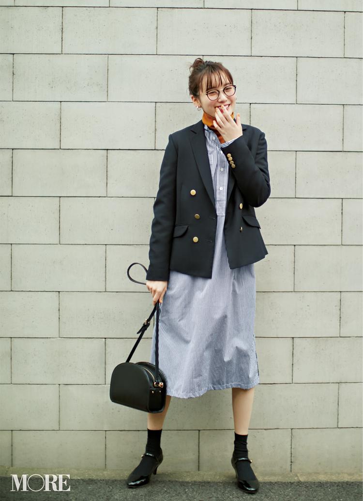 お仕事服に【紺ブレ】という新風! トレンチコートに飽きちゃったら着替えてみない?_3