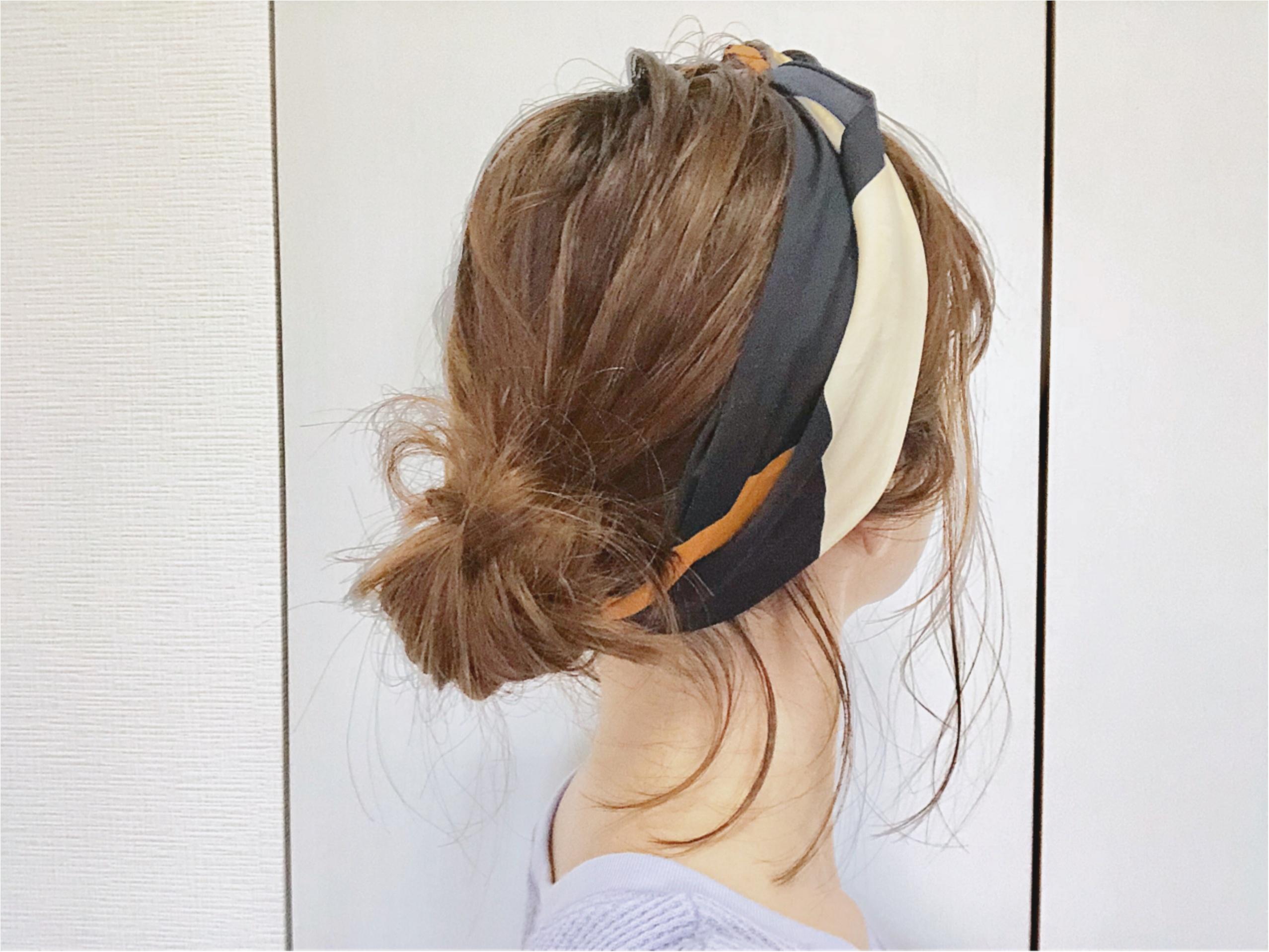 《トレンドアイテムで1分ヘアアレンジ》暑い日にも忙しい朝にも【スカーフ】がお役立ち❤️_8