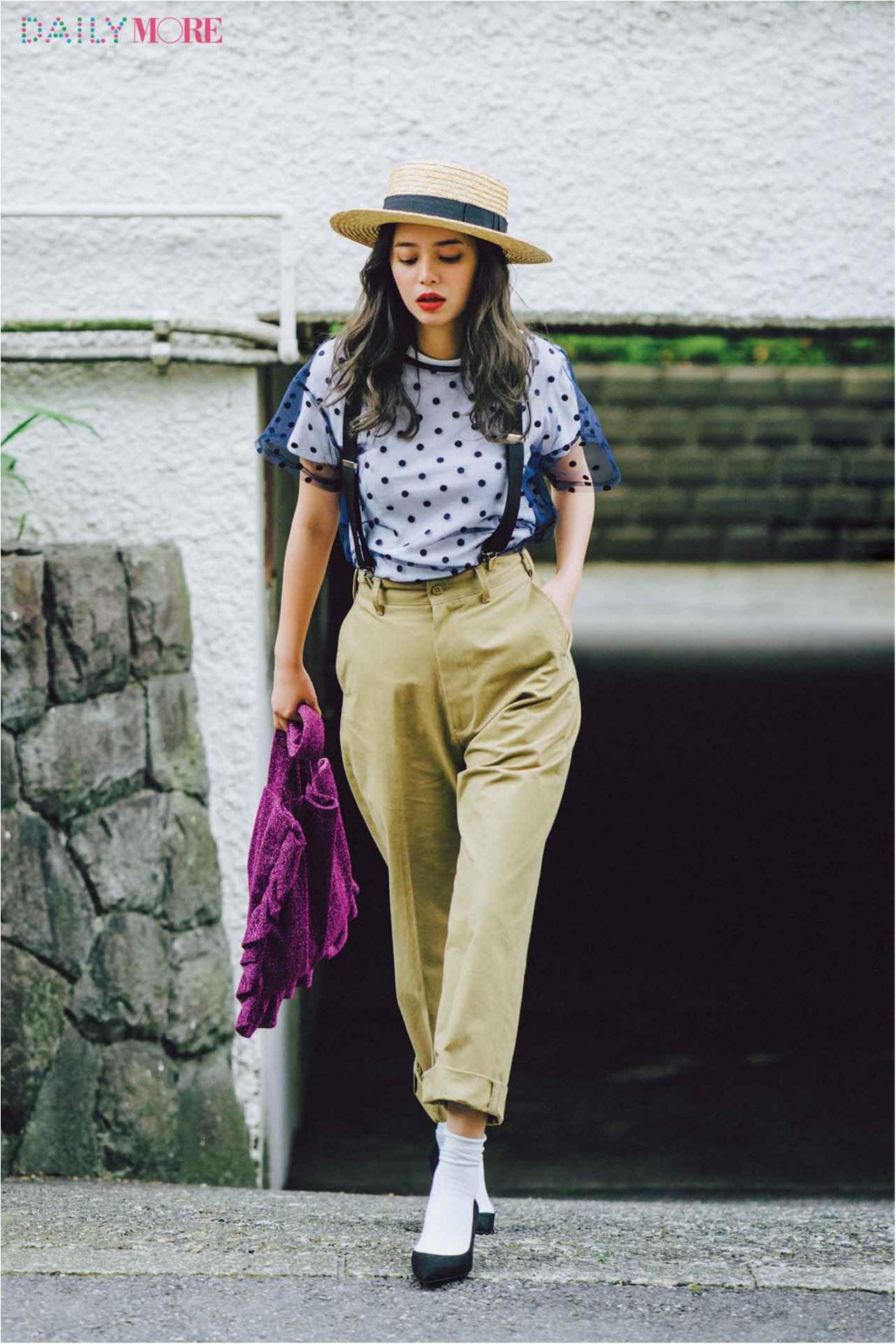 【今日のコーデ/岸本セシル】ランチ女子会の土曜日は、特別な服じゃなく、いつもの服に特別感をプラスする。_1