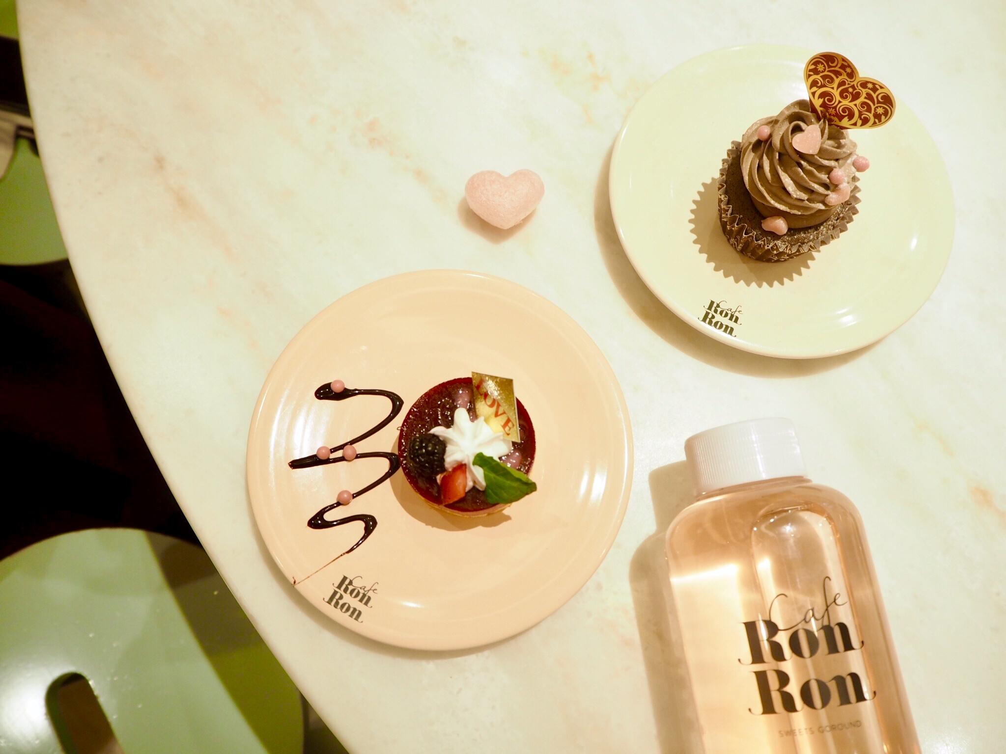 【cafe RON RON】回転スイーツカフェはバレンタインメニューもかわいい!_1