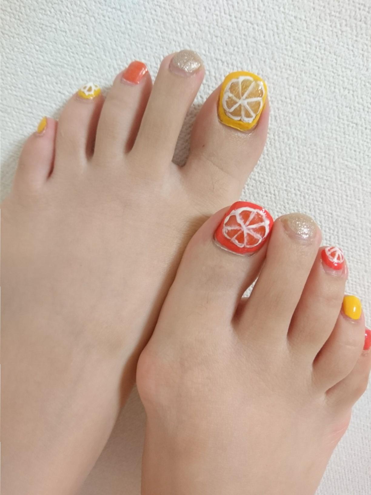 夏の遊びネイルにはフルーツネイルがぴったり☆~休日ネイル~_4