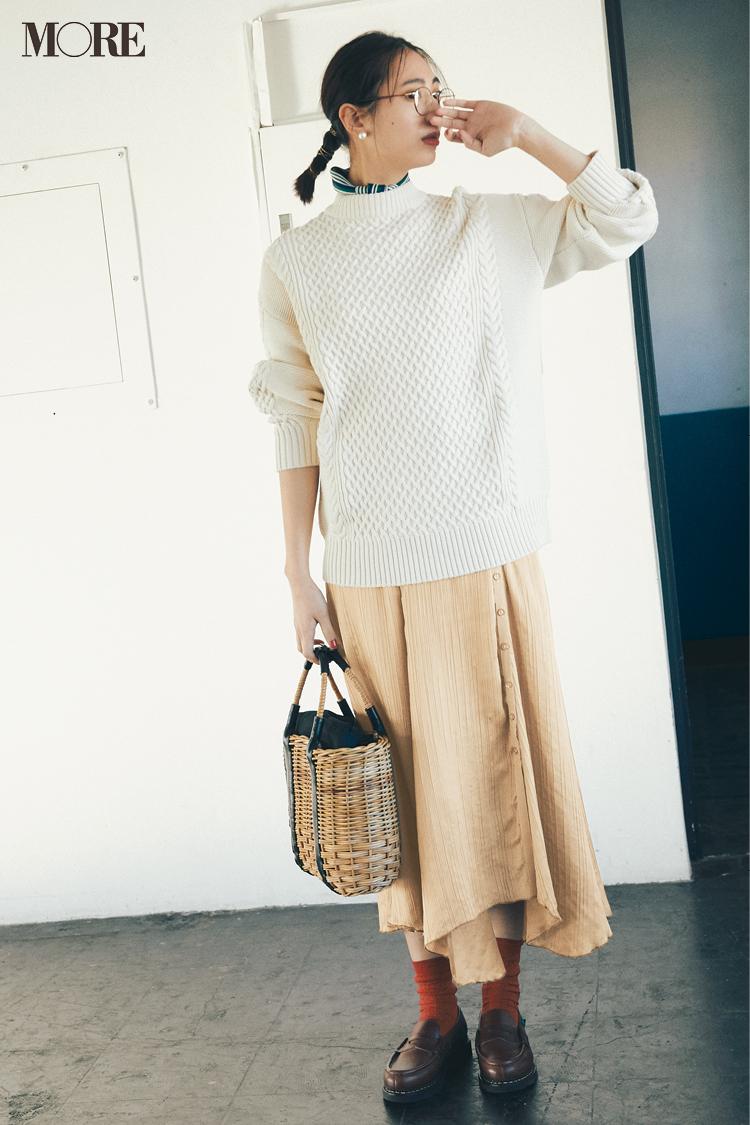 ベージュコーデ特集(20代後半女子向け)- 春におすすめのワンピースやスカート、靴などのコーディネートまとめ_20