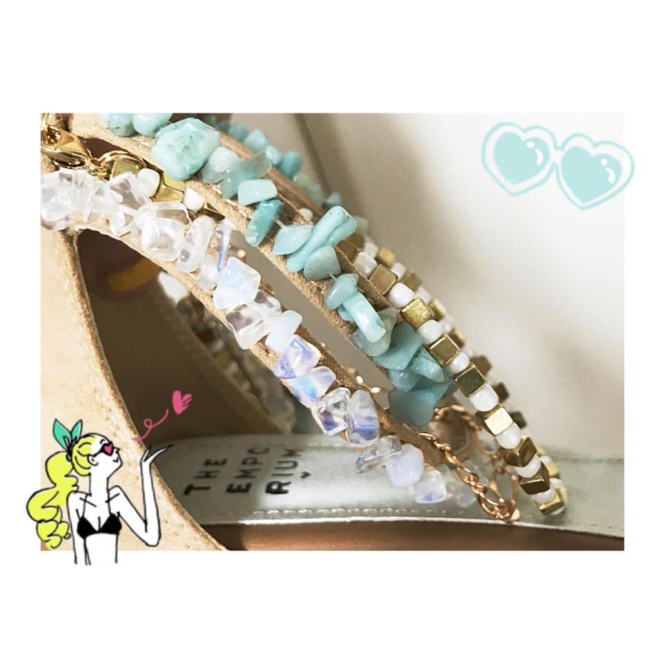 …ஐ 【summer shoes】5,000円以内プチプラサンダル♡ 私は流行りの\天然石/でサマーファッションを早く楽しみたい⠒̫⃝♡  ஐ¨_2