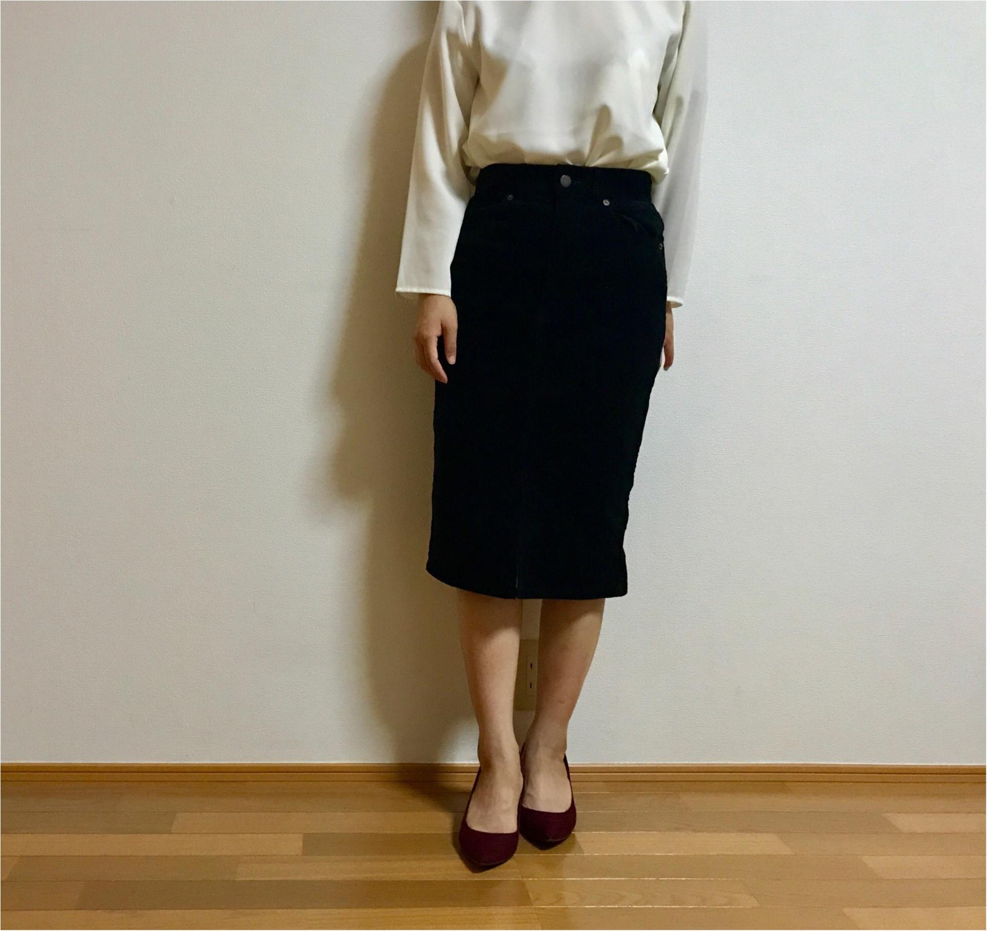 【GU】秋イチでゲットしたいアイテムはコレ★《コーデュロイスカート》で秋先取り♡_5