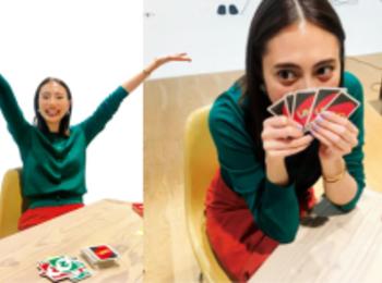 """土屋巴瑞季は""""『UNO』ニモマケズ""""! 喜びの瞬間をキャッチ♪【モデルのオフショット】"""