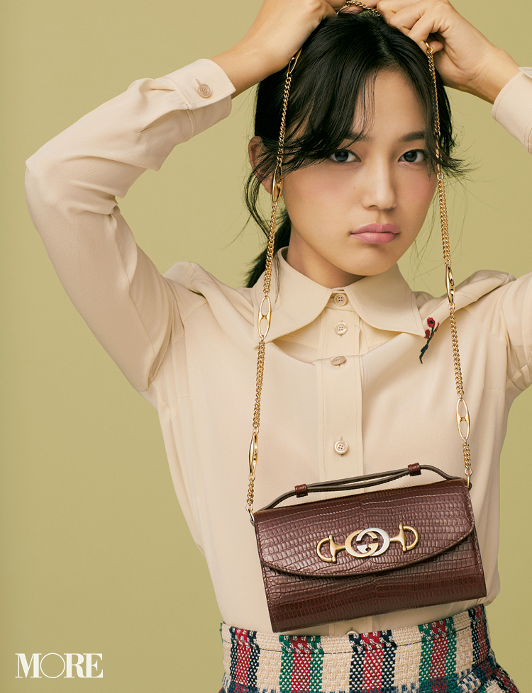 川口春奈 meets『GUCCI』♡ 可愛いも大人も似合う、私たちのバッグ選び 記事Photo Gallery_1_3