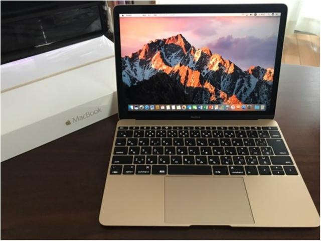 念願の【MacBook】!!スタイリッシュなデザインに惚れぼれです❤︎_2