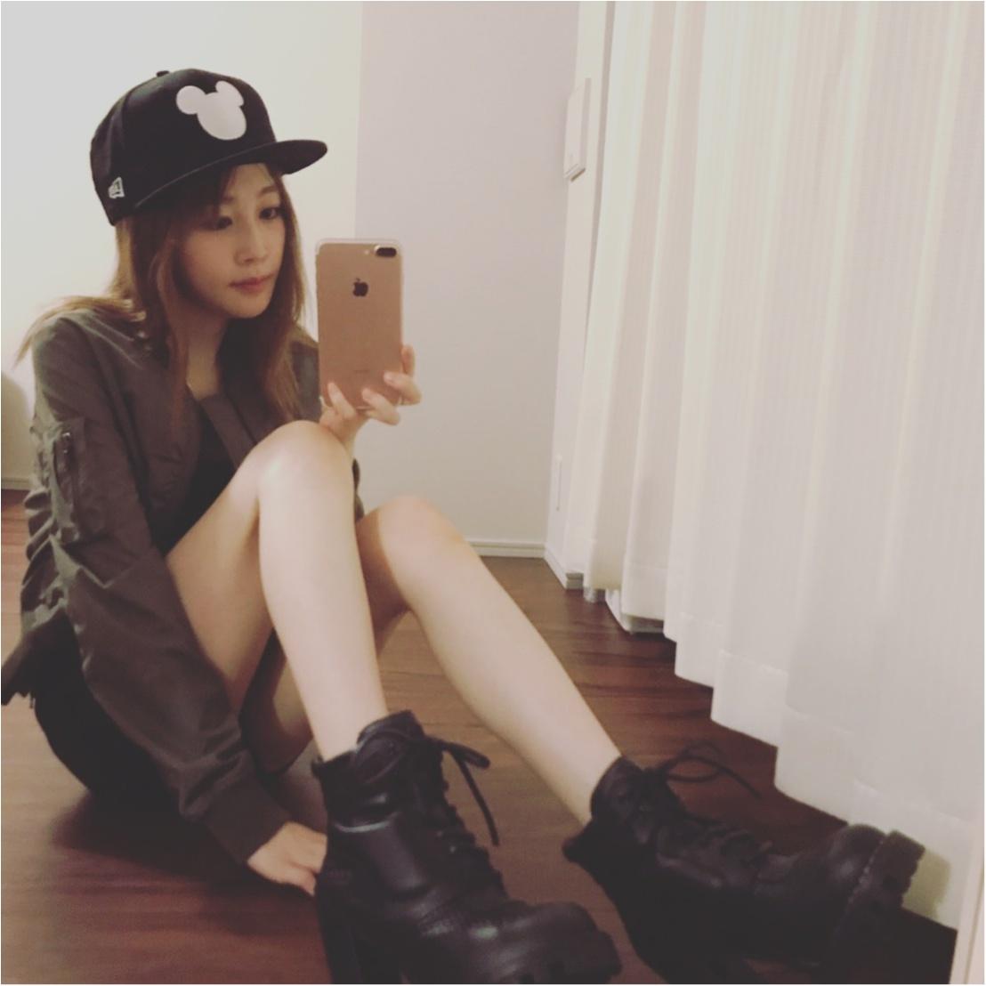 夏のお気に入りスタイル♡ゴツめな靴にはタイトな服で♡_1
