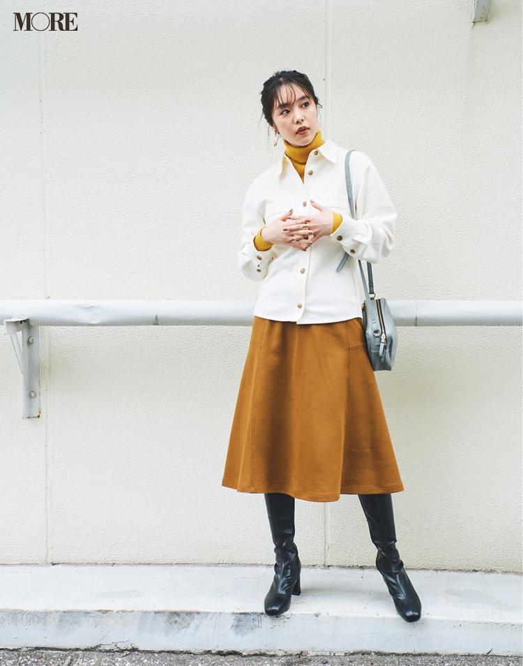 秋コーデ特集《2019年版》- トレンドのブラウンや人気のワンピース・スカートでつくる、20代におすすめのレディースコーデ_18