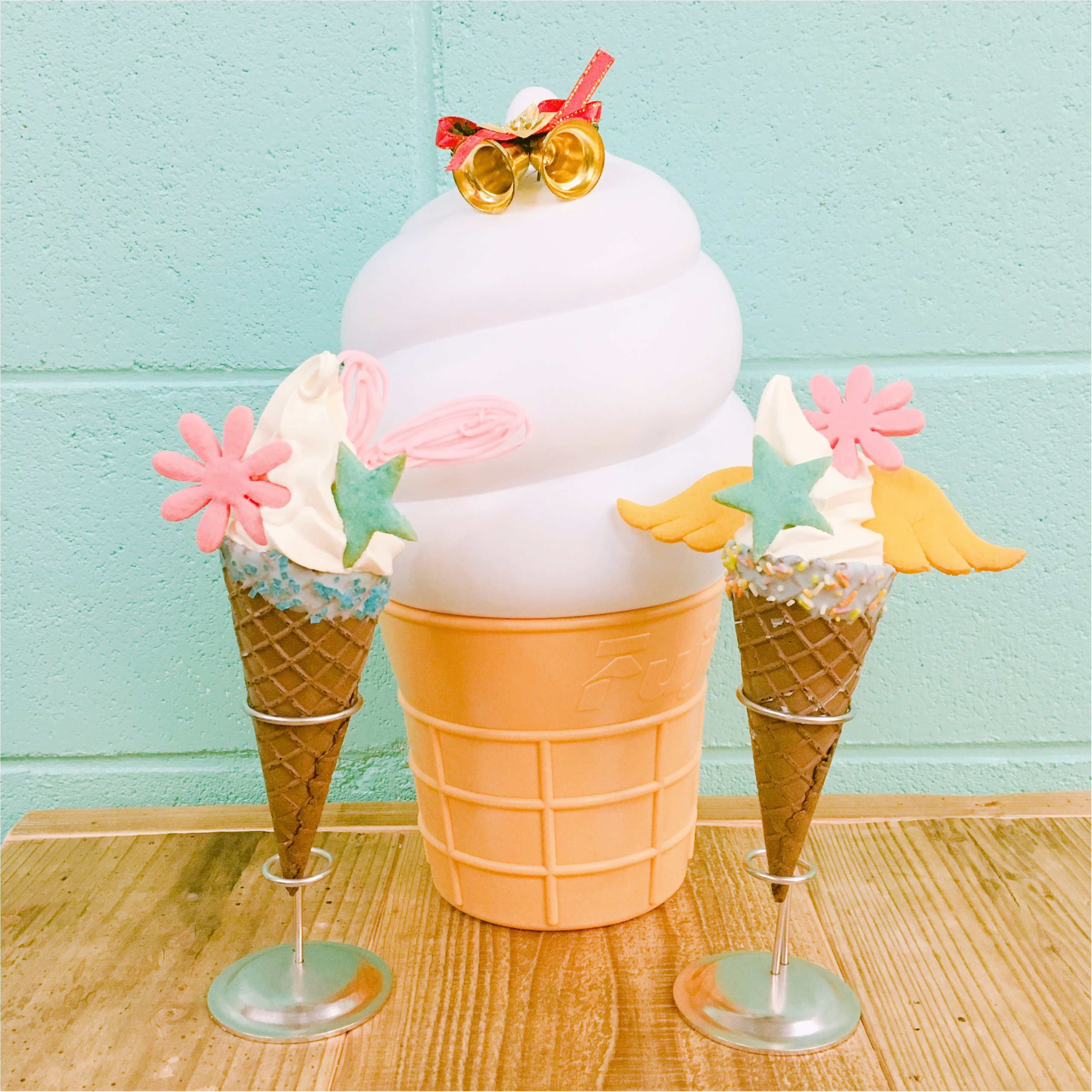 《 私のカフェめぐり♪ 》 SNS映えばっちり◎カラフルクッキーが乗ったソフトクリーム♡♡_6