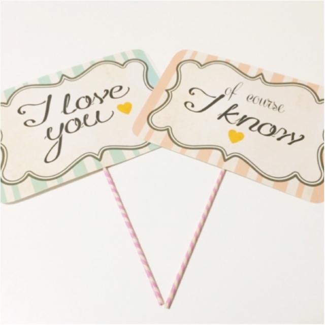 花嫁DIY♡ フォトプロップスで結婚式をかわいくしちゃおう♡_1
