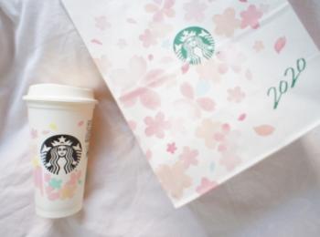 《繰り返し使える!値引もしてもらえる❤️》桜デザイン【スタバ】リユーザブルカップを買ってみました☻