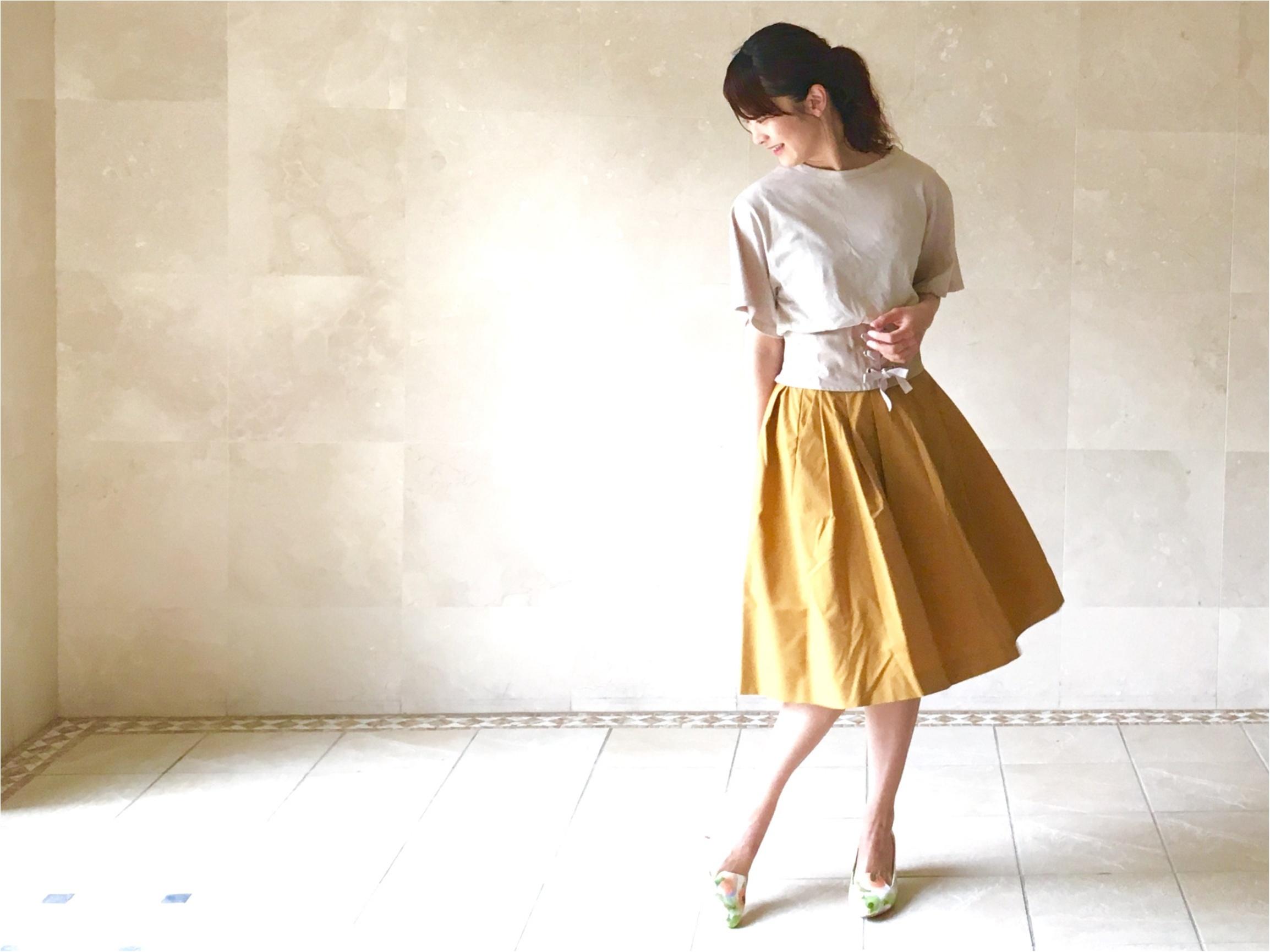 【UNIQLO】シワになりにくいからお手入れ楽チン❤️《美シルエットの優秀スカート》3選!_4