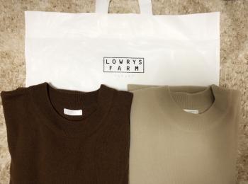 初売りはアウトレットの『LOWRYS FARM(ローリーズファーム)』でお気に入りのニットワンピースをイロチ買い!!
