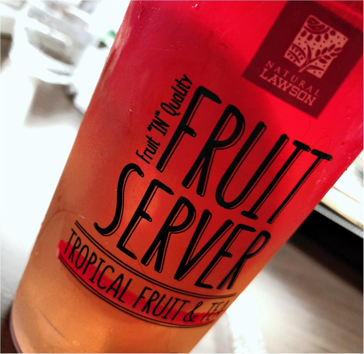 ローソン FRUIT SERVER♡TROPICAL FRUIT&TEA♡コンビニで見つけたtropical drink_2