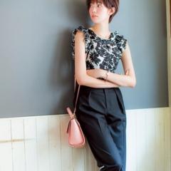 【今日のコーデ】お盆明けの月曜日は、美人なパンツスタイルで仕事モードに気分を切り替え!