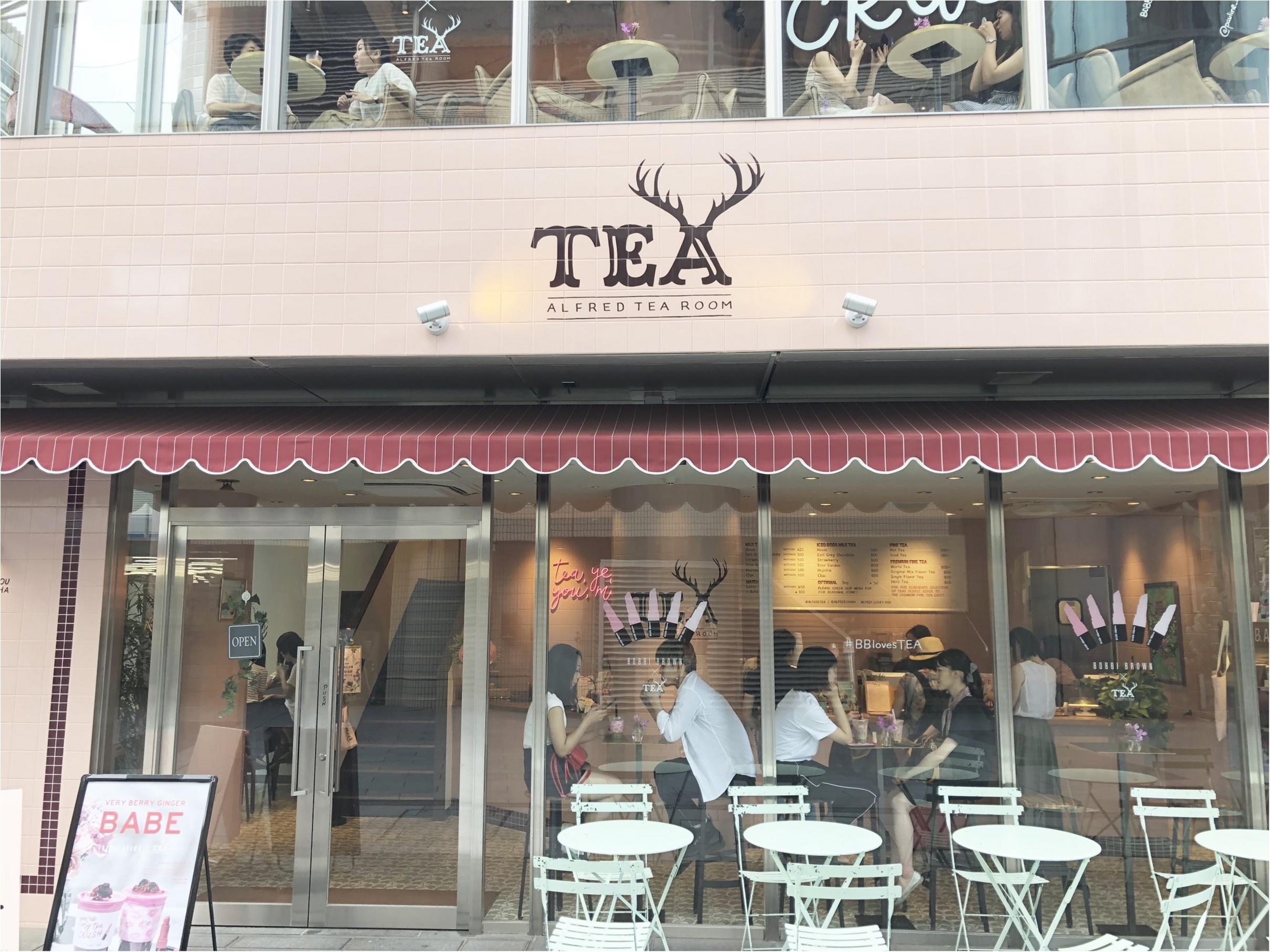 【青山】紅茶で一休み♩ALFRED TEA ROOMがBOBBI BROWNとコラボ中♡_1