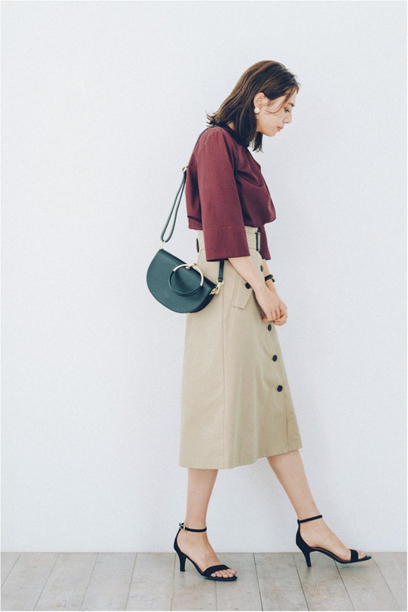 トレンチスカート,オフィスカジュアル