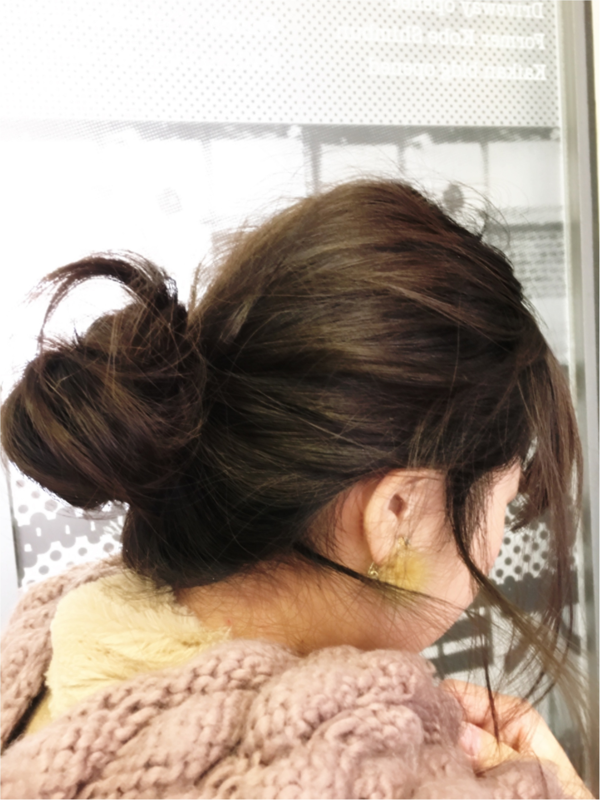 冬でもしたいゆるおだんご♡後れ毛を出すポイントとは?_4