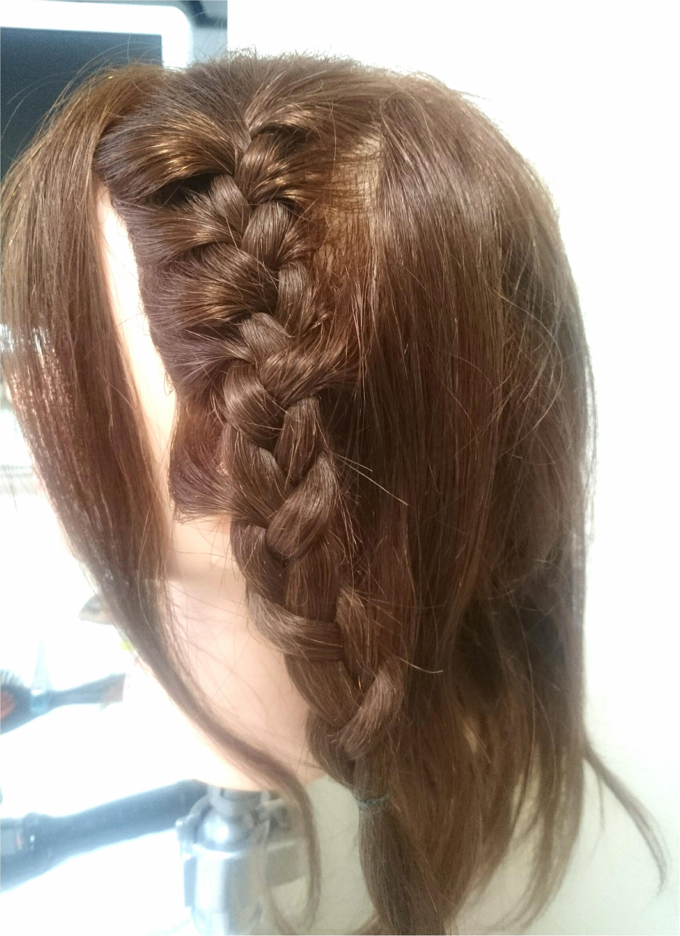 編み込みをうまくできるようになりたくてヘアアレンジレッスンに行ってきました!_1
