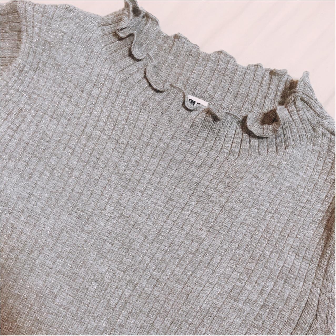 ユニクロ春の新作♡【シャイニーリブフリルネックセーター】が超優秀!!_2