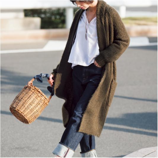 【今日のコーデ/篠田麻里子】カジュアル気分の土曜日はロングカーデでこなれて♪_1