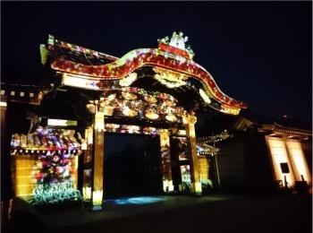 ≪京都・二条城≫先進アートとコラボ! 花がモチーフflowers by nakedライトアップ☆