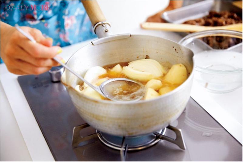 吉田さんの希望レシピ「愛の肉じゃが」も作ってみました!【#モアチャレ 吉田沙保里さんの「お弁当女子」チャレンジ】_3