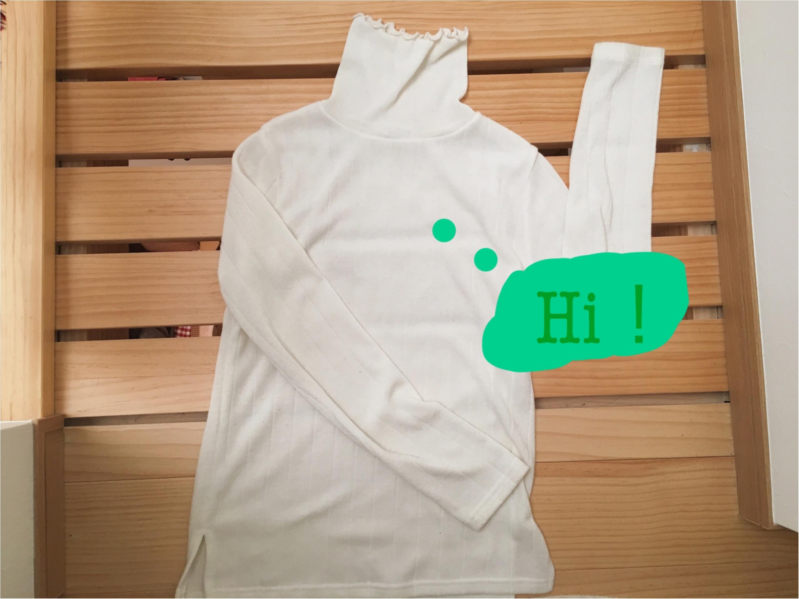 ★【DHOLIC】ハイネックリブTシャツをON・OFFで着回し!コーデ2パターンご紹介❤️_1