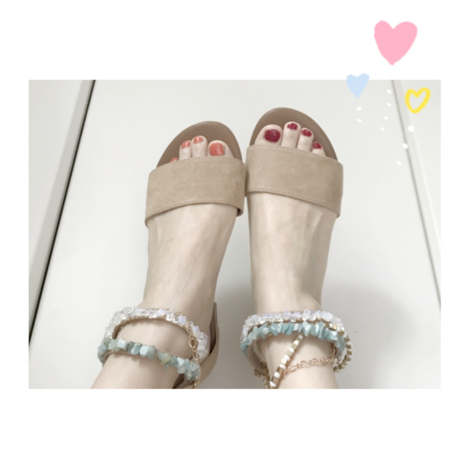 …ஐ 【summer shoes】5,000円以内プチプラサンダル♡ 私は流行りの\天然石/でサマーファッションを早く楽しみたい⠒̫⃝♡  ஐ¨_1