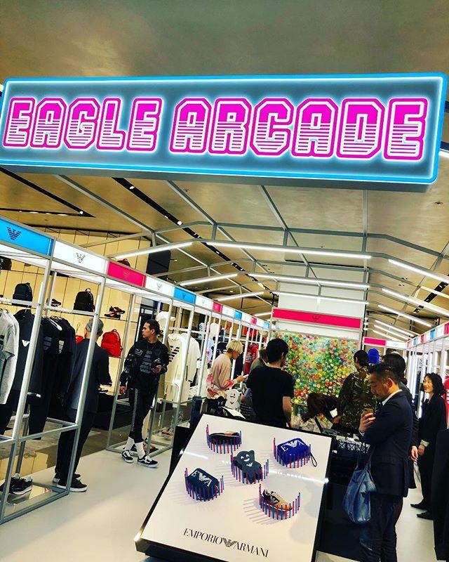 『EMPORIO ARMANI 青山店』がゲームセンターに変身⁉︎_1