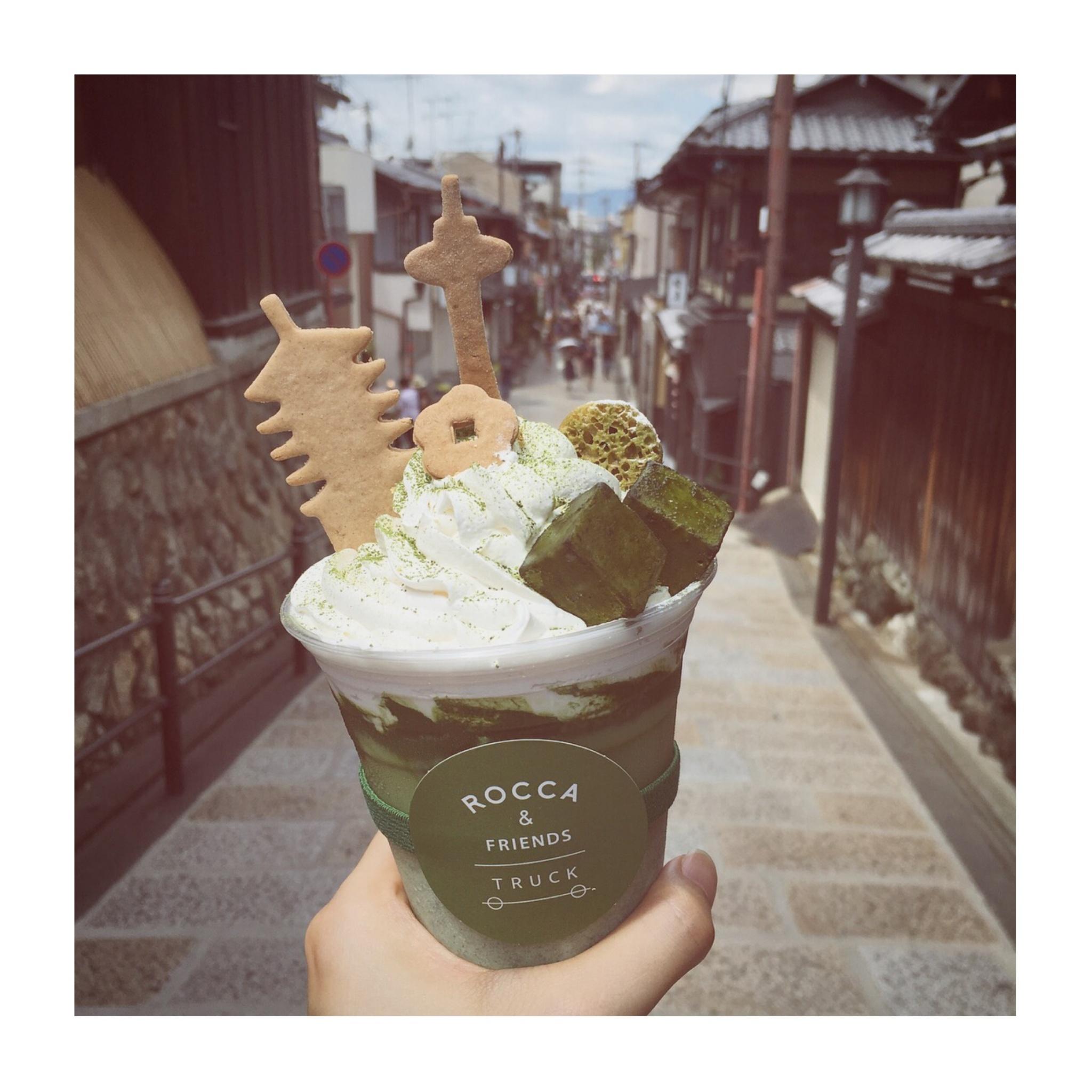 #5【#cafestagram】❤️:《京都》に行ったら絶対飲みたい!ROCCA&FRIENDS TRUCKの抹茶ラテがかわいすぎる◡̈_4