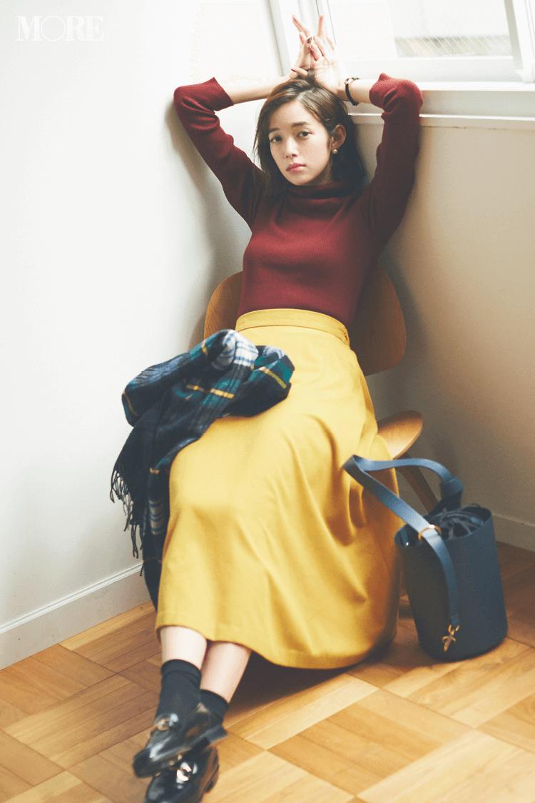 スカート、ニットにコートも! 冬のきれいめ【GUコーデ】まとめ | ファッション_1_12