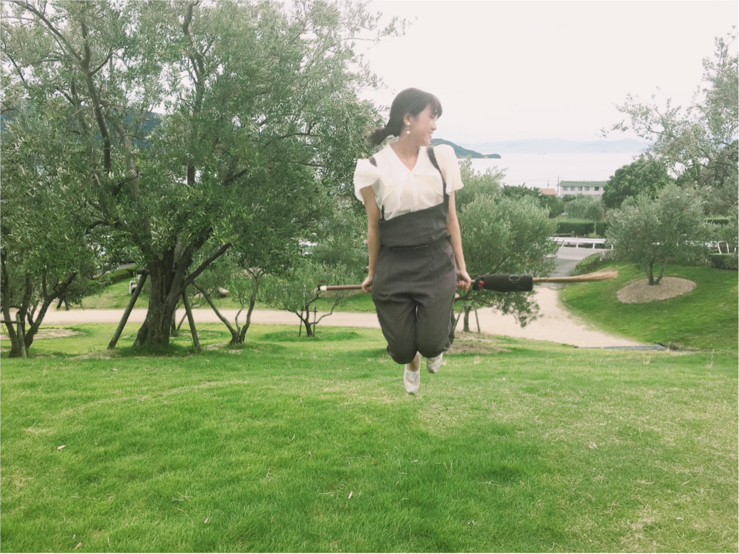 小豆島の大自然をほうきで遊飛行♪魔女っ子になろう♡_2