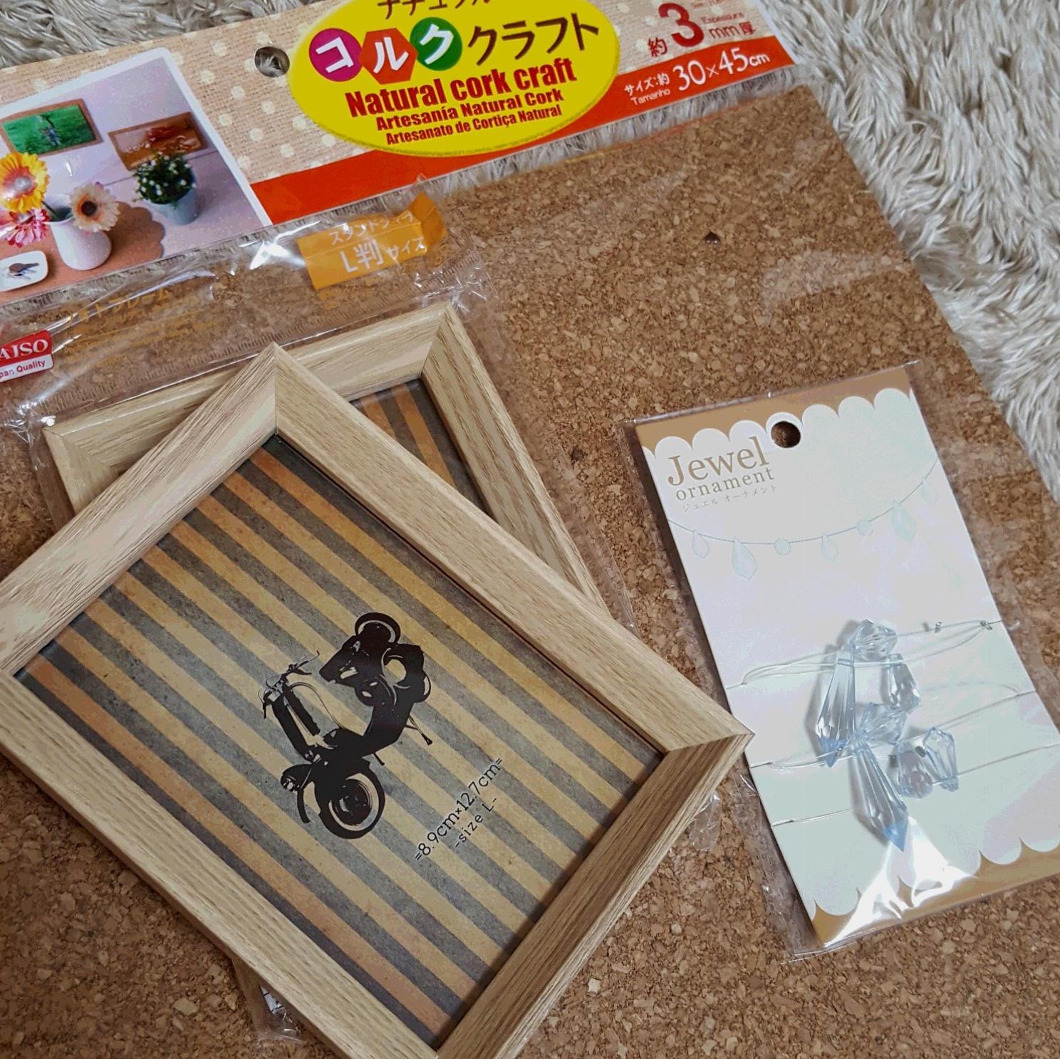 簡単・可愛い☆アクセサリーディスプレイを100円アイテムでDIY☆_2