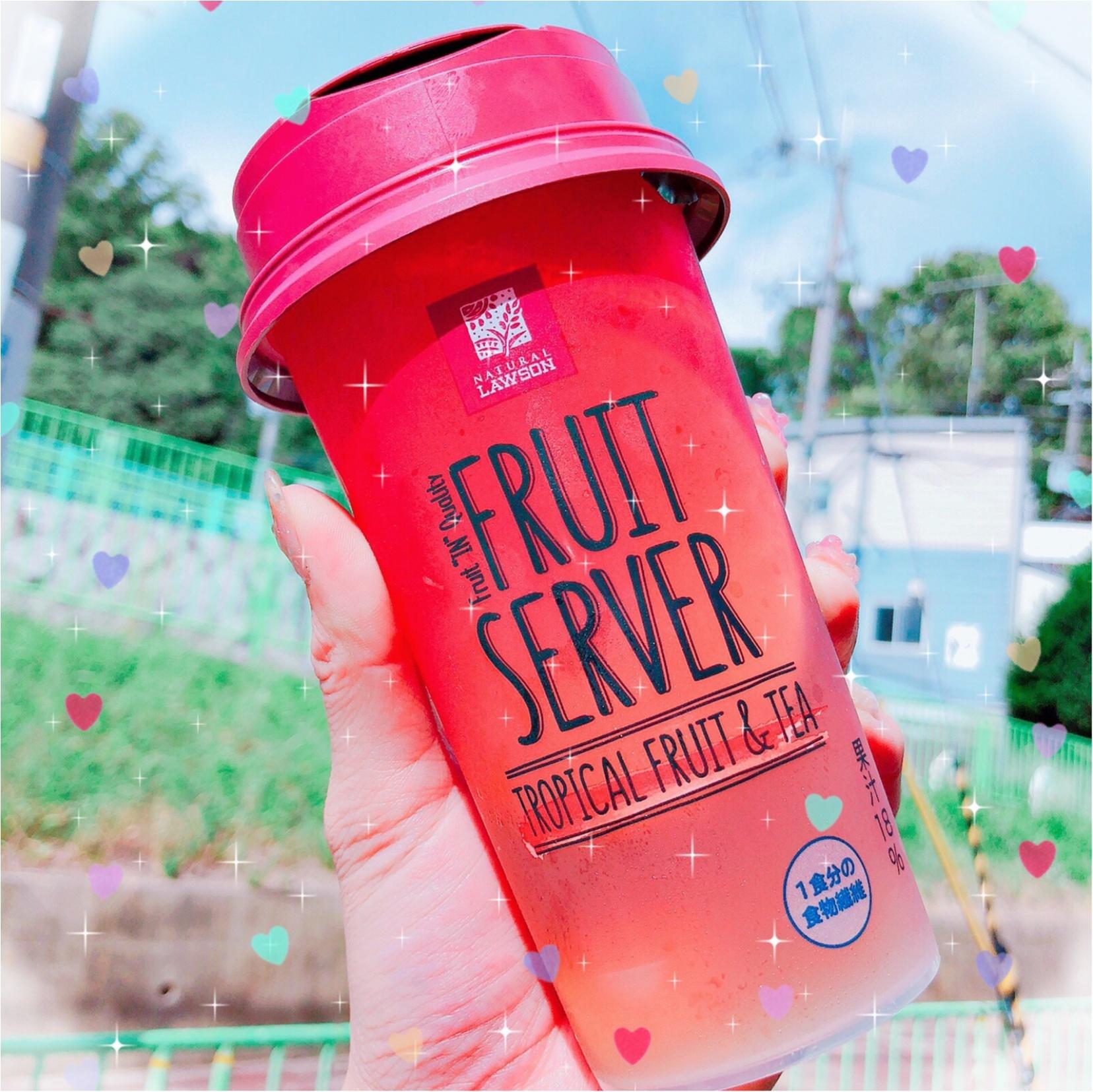 ローソン FRUIT SERVER♡TROPICAL FRUIT&TEA♡コンビニで見つけたtropical drink_1