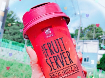 ローソン FRUIT SERVER♡TROPICAL FRUIT&TEA♡コンビニで見つけたtropical drink