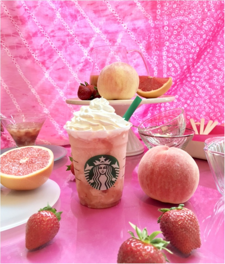 『スタバ』次なる新作は、ぜ~んぶピンク♡ 「ピーチ ピンク フルーツ フラペチーノ」7/20(金)発売!!_1